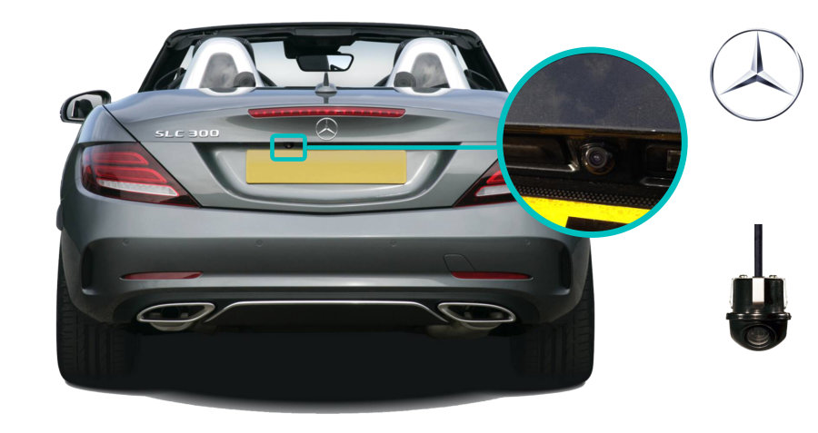 Mercedes-Benze-slc-rear-view-reversing-camera-retrofit-cam