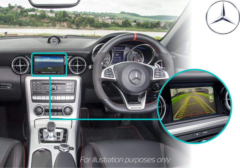 Mercedes-benz-slc-rear-view-reversing-camera-retrofit-screen