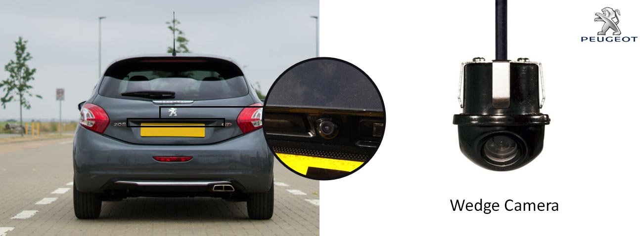 Peugeot 208 Car Reverse Rear View Camera Kit With Guidelines