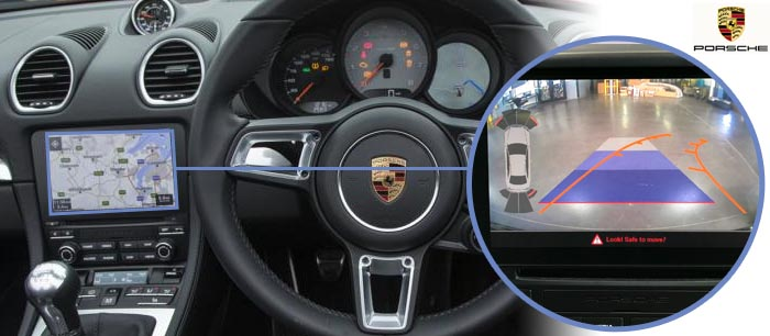 Boxster reversing camera screen