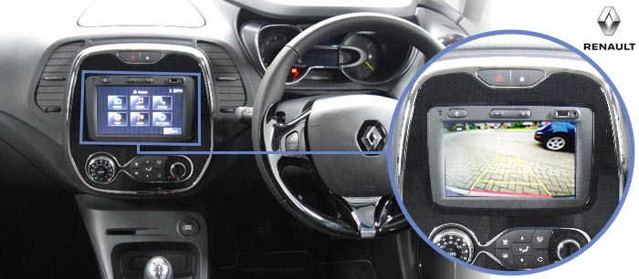 Captur reversing camera screen