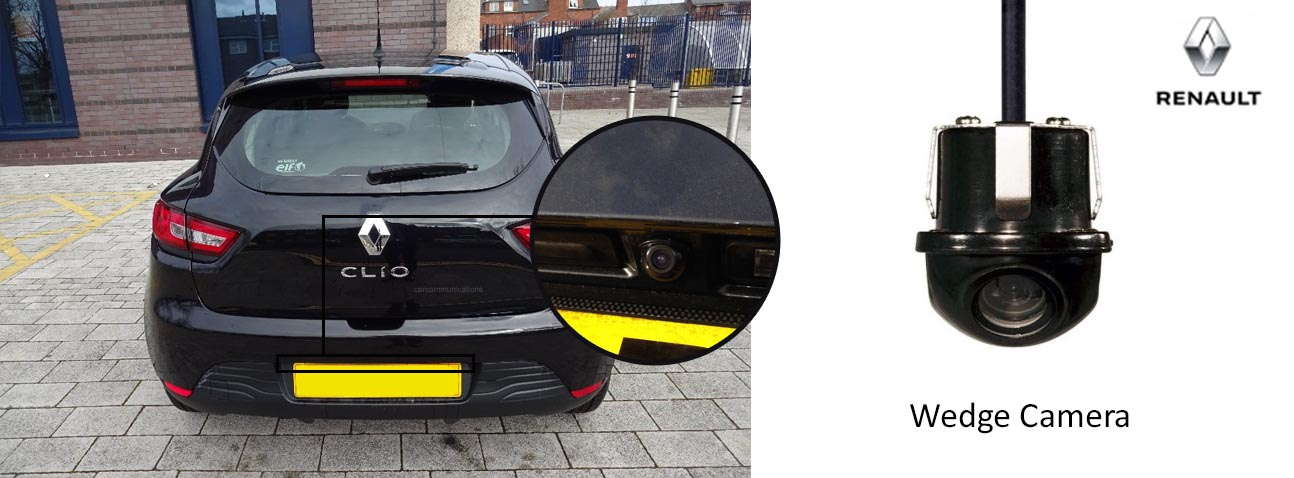 Clio reversing rear view wedge camera