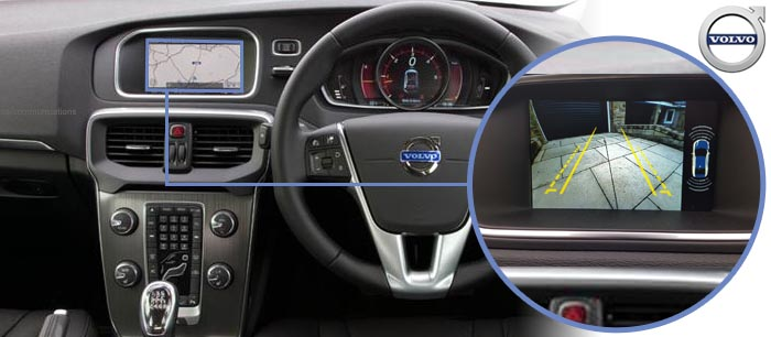 Volvo V40 Reversing Rear View Camera Kit with Guidelines