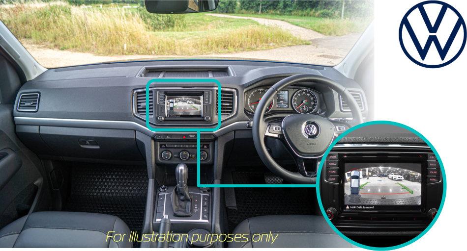 VW_Amarok_reversing _rear-view_camera_kit
