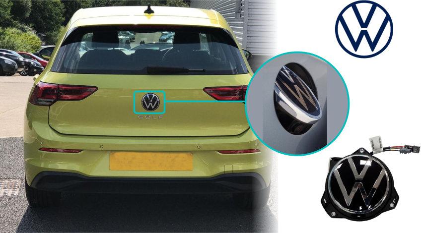 Volkswagen_Golf_MK8_Reversing_Rear_View_Camera_VW_Emblem_Camera