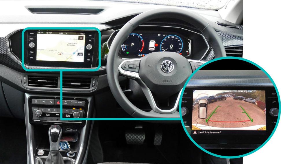 Volkswagen-vw-t-cross-rear-view-reversing-camera-kit-solution-retrofit-screen-image
