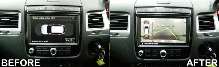 VW Touareg Rear View Camera Kit