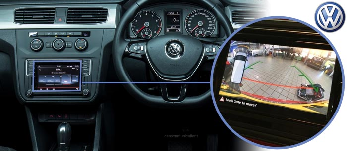 Caddy reversing camera screen