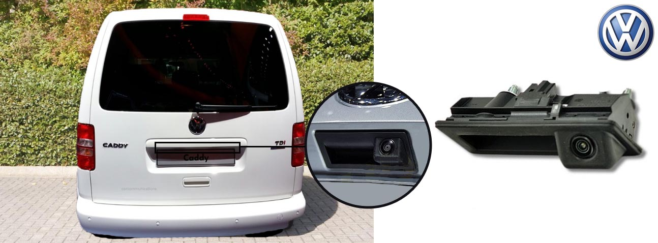 Caddy reversing rear view wedge camera