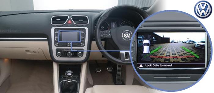 VW EOS Reversing Emblem Camera Kit With Guidelines