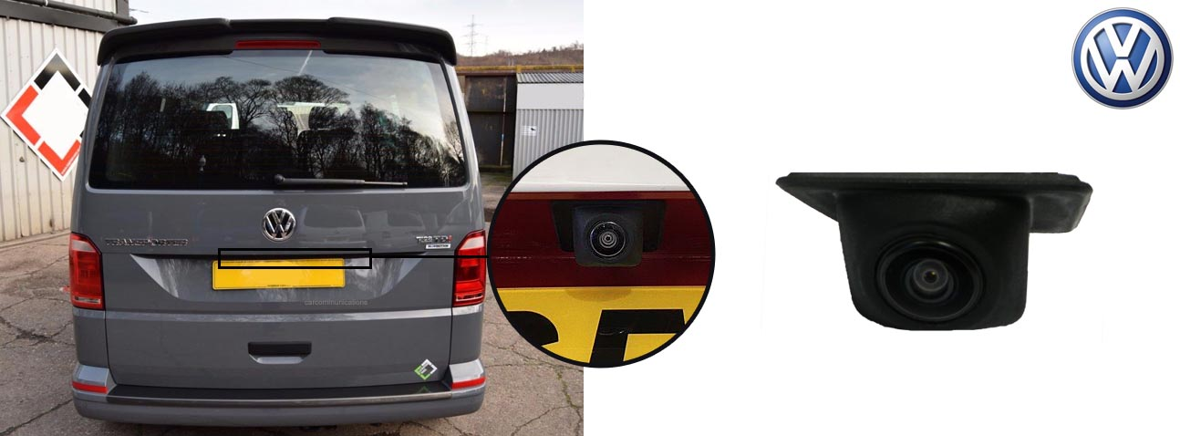 T6 reversing rear view wedge camera