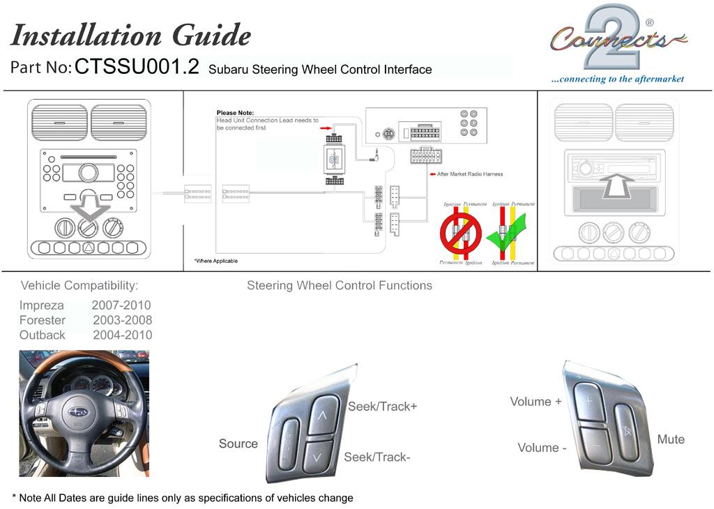 CTSSU001.2 installation connects2 steering wheel stalk interface for subaru ctssu001 2  at honlapkeszites.co