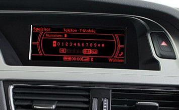 Audi FISCON MMI bluetooth telephone screen