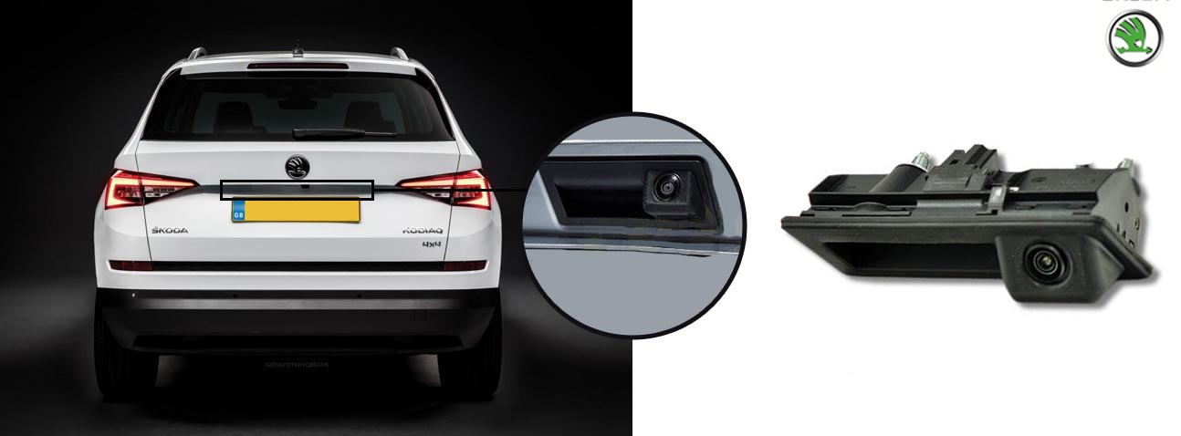 Kodiaq reversing rear view boot handle camera