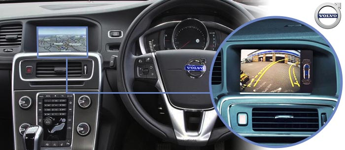 V60 reversing camera screen