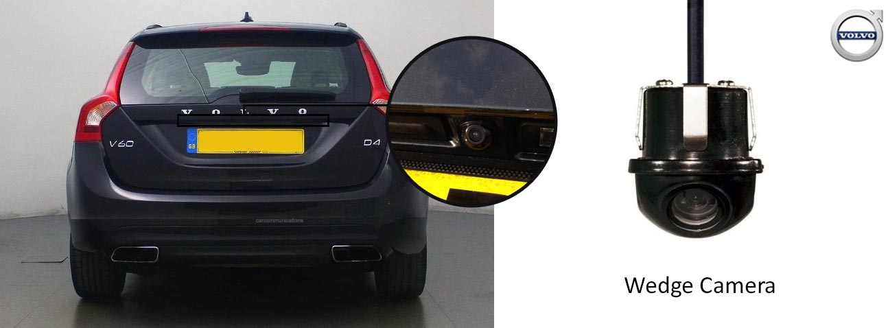 V60 reversing rear view wedge camera