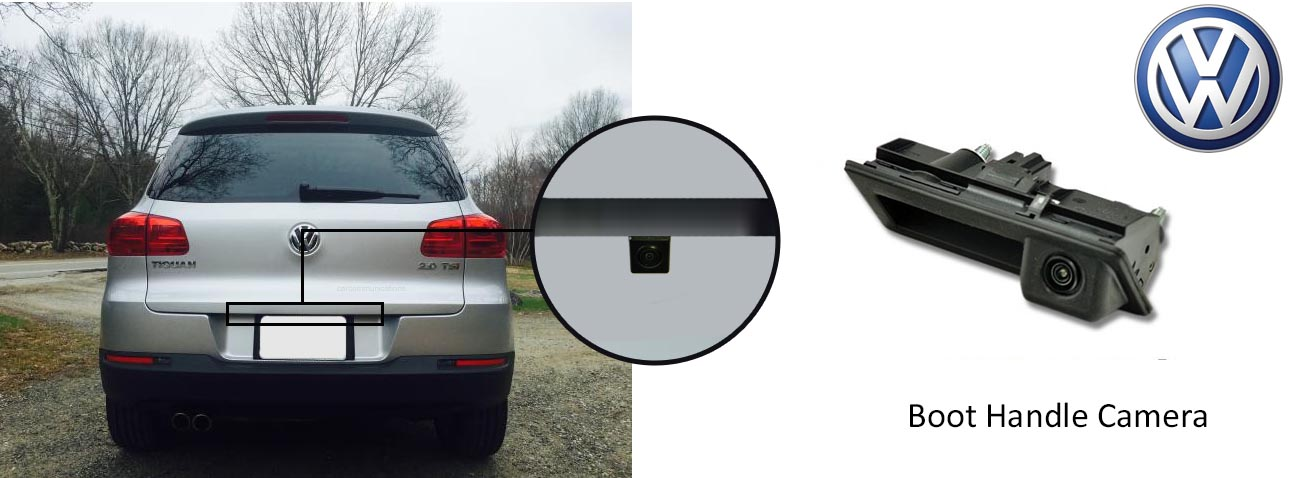 tiguan reversing rear view boot handle camera